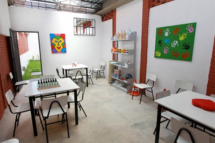 As instalações incluem sala de arte, espaço para convivência, área para banho de sol e atividades físicas, escola com sala de leitura e ambulatório - Foto: Pedro Moraes l Gov-BA
