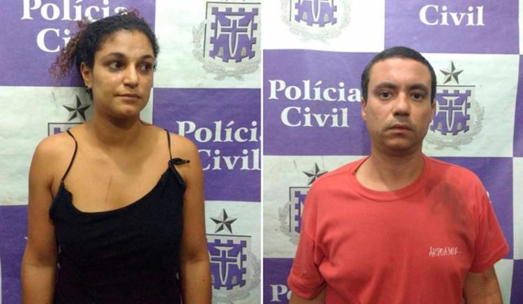O casal Michele Gonçalves e Rodrigo Michel é suspeito de ter cometido o crime - Foto: Divulgação | Polícia Civil