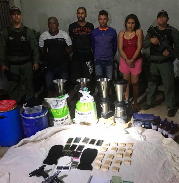 Grupo foi preso durante ação das polícias da Bahia e Goiás - Foto: Divulgação   SSP-BA