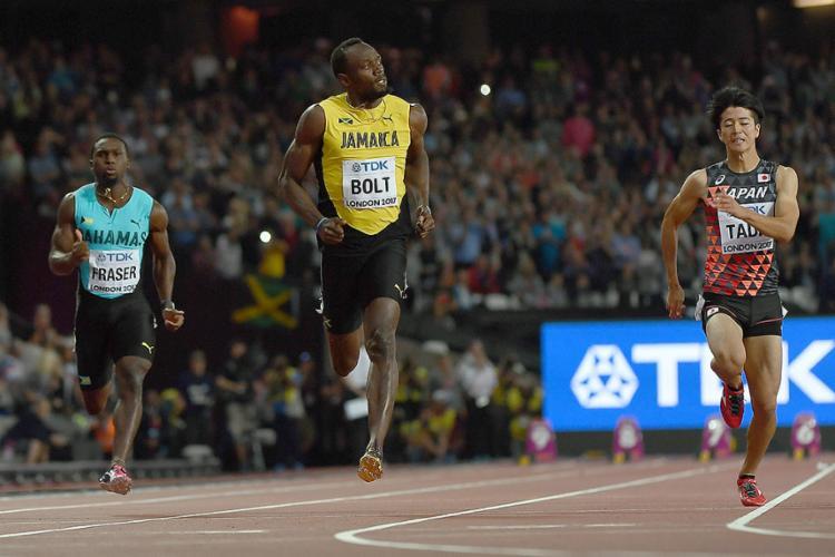 O atleta jamaicano foi o mais veloz de sua bateria e o oitavo geral - Foto: Jewel Samd l AFP