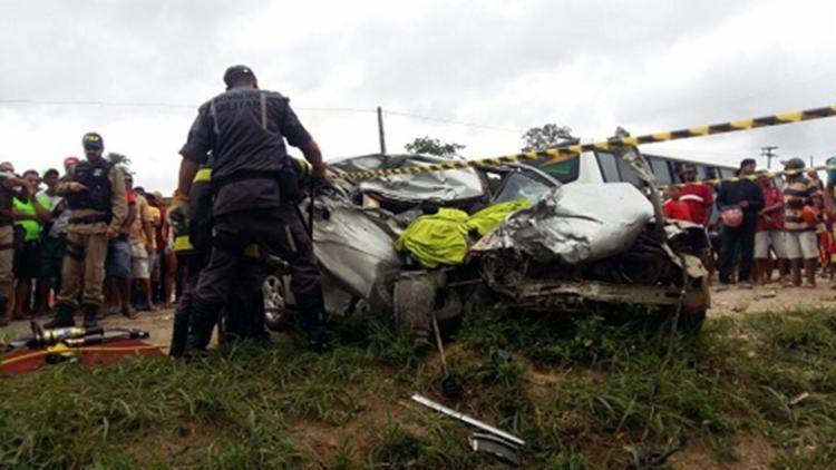 Acidente ocorreu na saída da cidade de Jitaúna, sentido Jequié - Foto: Reprodução | Site Giro em Ipiau