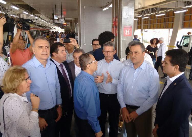 Governador Rui Costa participou de visita técnica - Foto: Luciano da Matta | Ag. A TARDE
