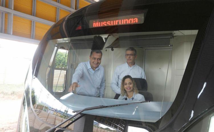 Rui participou de vistoria em quatro novas estações do metrô - Foto: Luciano da Matta | Ag. A TARDE
