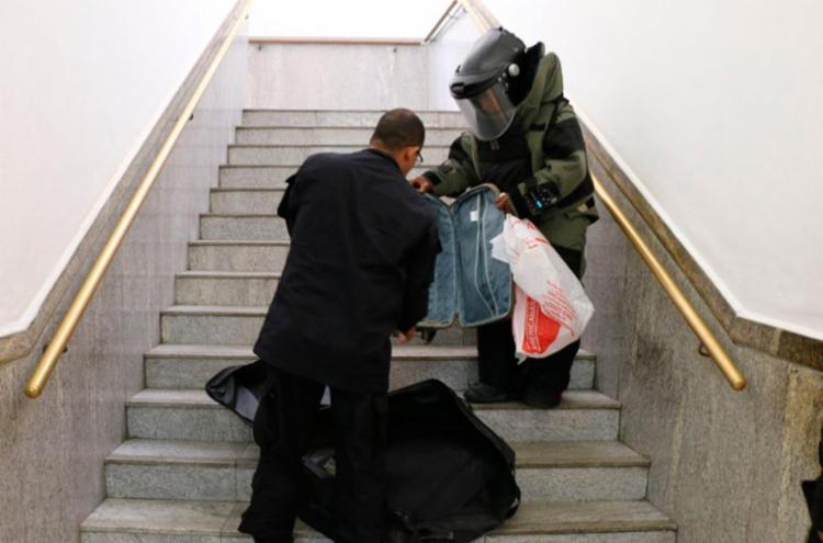 Nenhum explosivo foi encontrado nos itens deixados no local - Foto: Alberto Maraux | SSP-BA