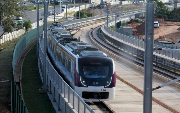 Projeto inicial prevê que metrô chegue até o aeroporto - Foto: Alberto Coutinho | Divulgação | GOVBA
