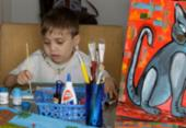 Menino descobre talento para pintura durante idas ao hospital | Foto: