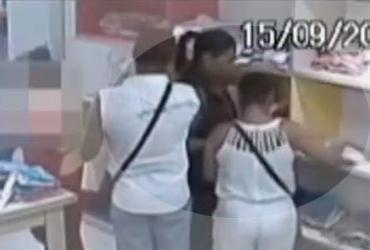 Vídeo flagra ação de assaltantes em loja de shopping em Salvador