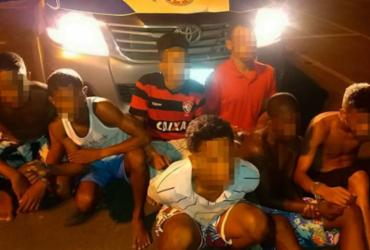Seis suspeitos são presos e um adolescente apreendido na Santa Cruz
