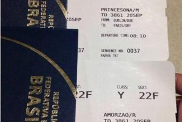 """Brasileira compra passagem em nome de """"Amorzão"""" e """"Princesona"""""""