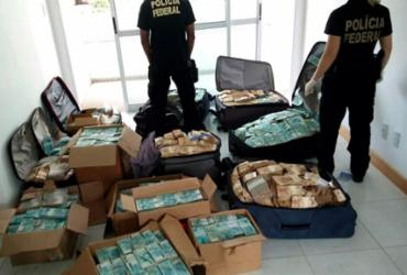 Malas que guardavam os R$ 51 milhões em 'bunker' continham digitais de ex-assessor - Divulgação l PF