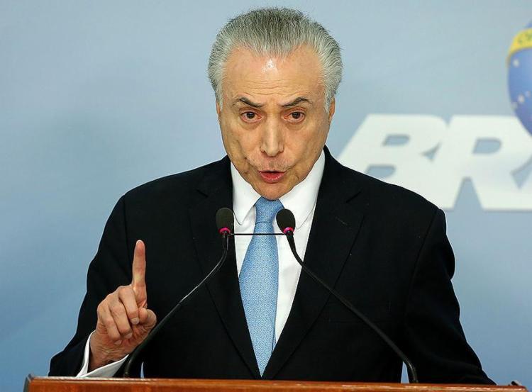 Presidente e ministros são investigados no inquérito do 'quadrilhão' do PMDB na Câmara - Foto: Sergio Lima l AFP