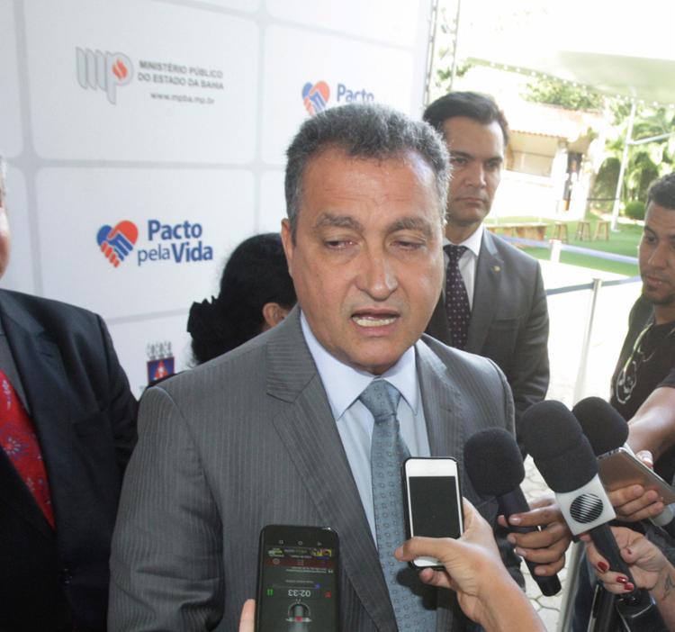 O governador disse não ver prejuízos após as revelações feitas pelo ex-ministro - Foto: Luciano da Matta l Ag. A TARDE l 05.06.2017