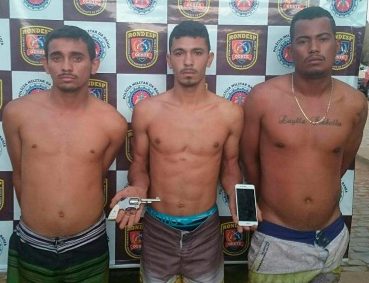 O trio já foi encaminhado para a Delegacia Territorial do município - Foto: Divulgação   SSP-BA