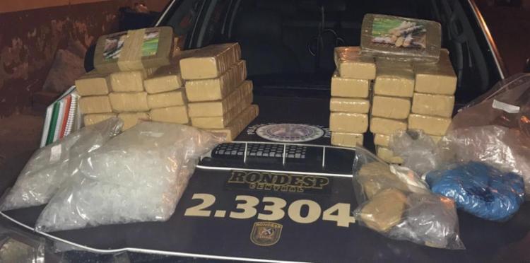 As drogas foram encontradas em uma residência que seria utilizada pelos criminosos - Foto: Divulgação | SSP-BA