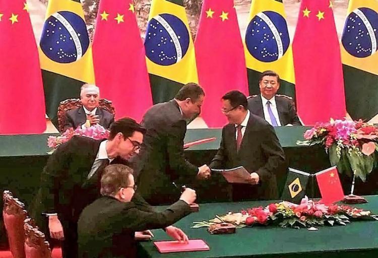 Em viagem à China, governador assina memorandos para projetos da Ponte Salvador-Itaparica e ferrovia Fiol - Foto: Divulgação l Gov-BA
