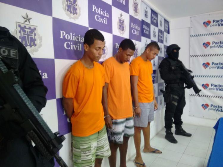 Josué, Lucas e Uelton confessaram outros 30 assaltos - Foto: Euzeni Daltro | Ag. A TARDE