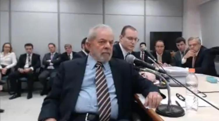 Novo interrogatório do ex-presidente o juiz federal Sérgio Moro durou cerca de 2 horas, em Curitiba - Foto: Reprodução l YouTube