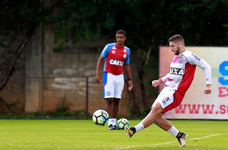 Zé Rafael é o jogador de linha do Bahia que mais atuou em 2017 - Foto: Felipe Oliveira l EC Bahia