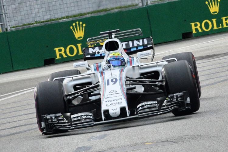 Massa considerou que o circuito em Cingapura não é favorável para a Williams - Foto: Roslan Rahman | AFP