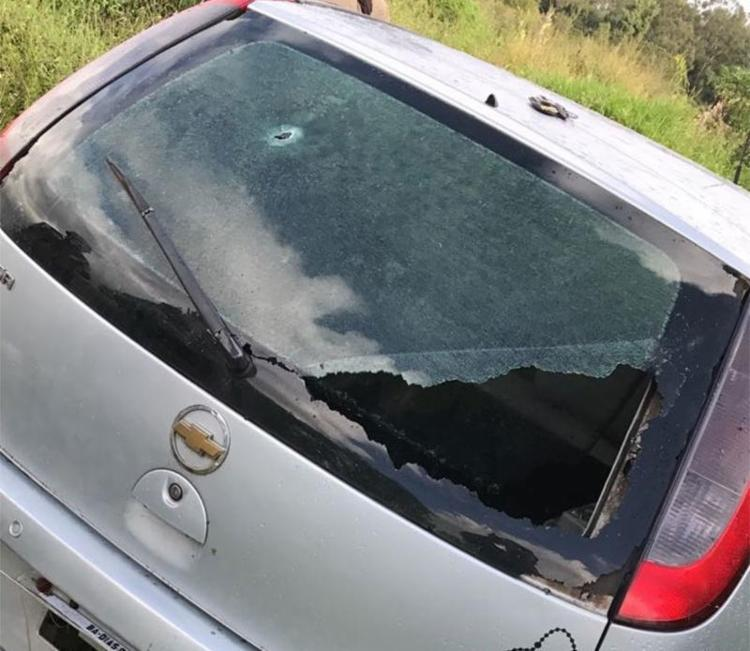 Corsa usado no crime foi roubado em Dias D'Ávila - Foto: Divulgação   SSP