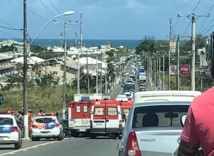 Acidente ocorreu na alameda Dilson Jatahy Fonseca - Foto: Cidadão Repórter   Via WhatsApp