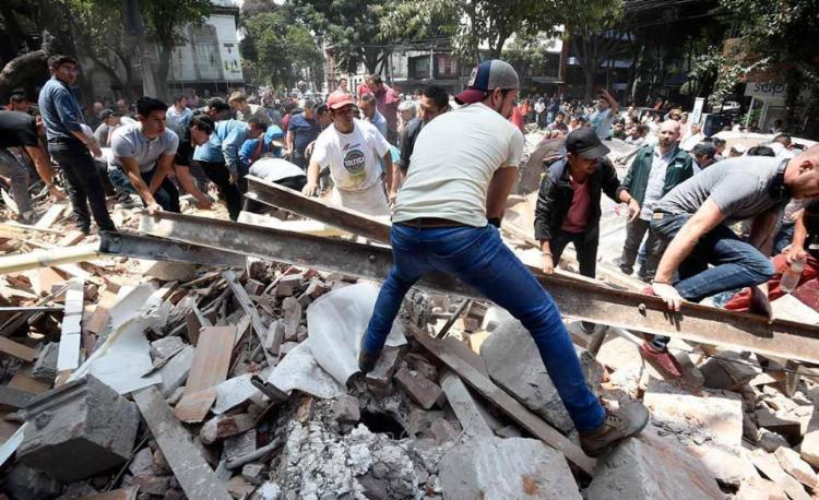 O país foi atingido por um terremoto de 7,1 pontos nesta terça, 19 - Foto: Alfredo Estrella   AFP