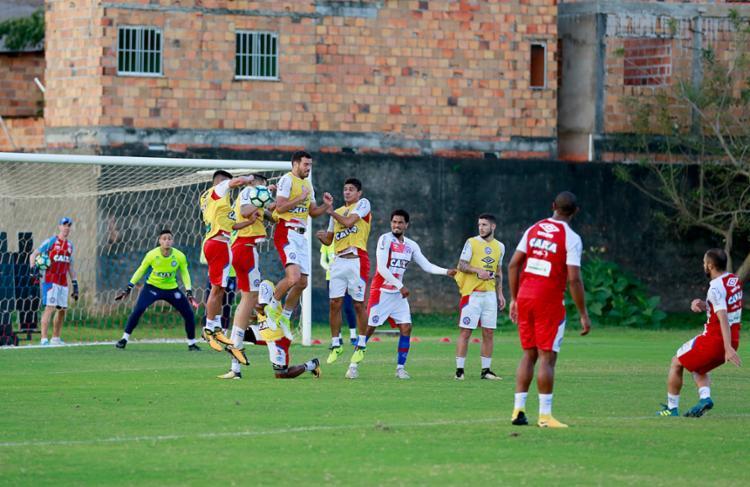 Bahia treinou com modificações na tarde desta quinta, 21 - Foto: Felipe Oliveira l EC Bahia