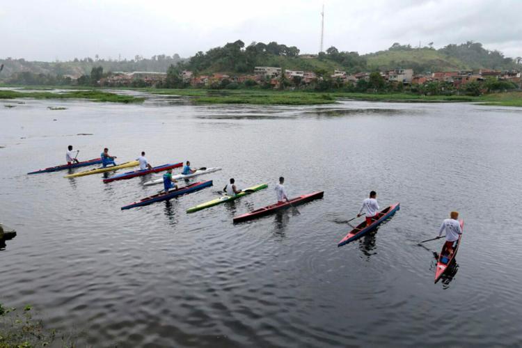 Pratica da canoagem é comum na cidade de Ubaitaba, terra de Isaquias Queiroz - Foto: Mateus Pereira   GOVBA