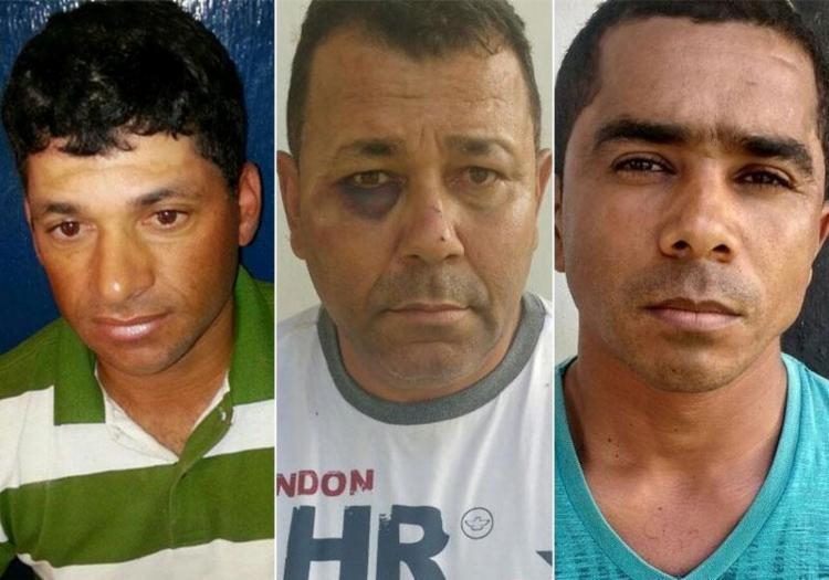 Trio foi preso durante operação conjunta entre policiais baianos e pernambucanos - Foto: Divulgação | SSP