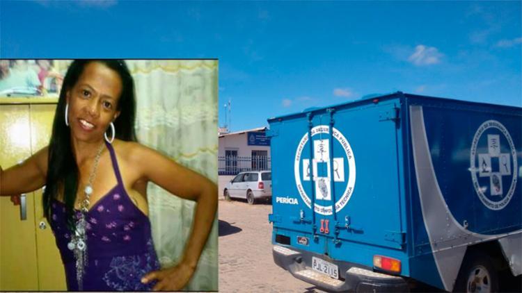 O pescoço de Elma Silva tinha marcas perfuração de arma branca - Foto: Reprodução | Blog do Jeferson Almeida