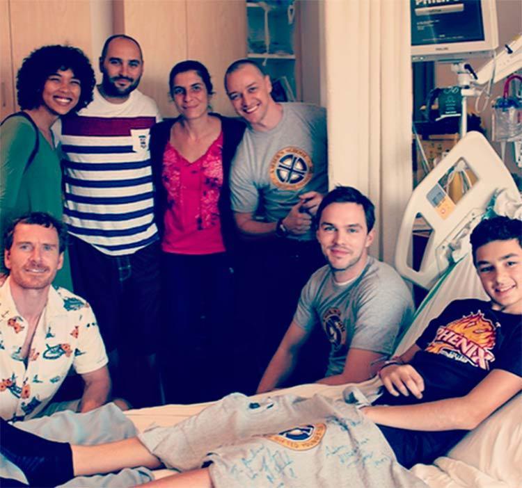 Atores visitaram vários pacientes - Foto: Reprodução | Instagram