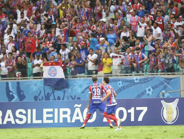 Rodrigão marcou o gol de pênalti - Foto: Margarida Neide | Ag. A Tarde