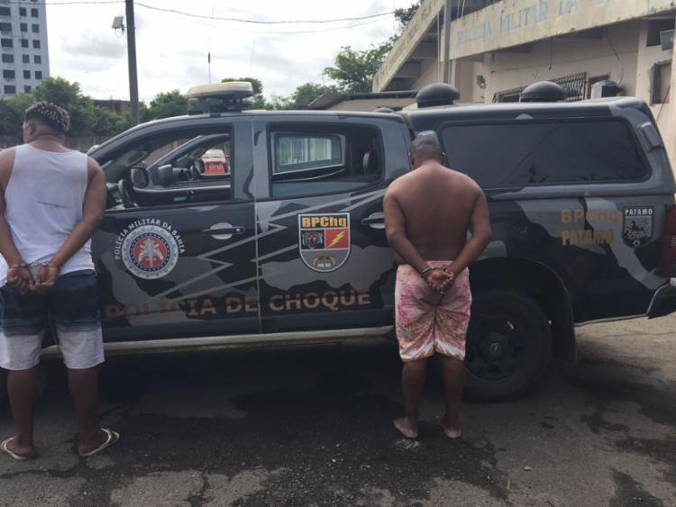 Os dois suspeitos foram encaminhados à Central de Flagrantes - Foto: Divulgação   SSP-BA
