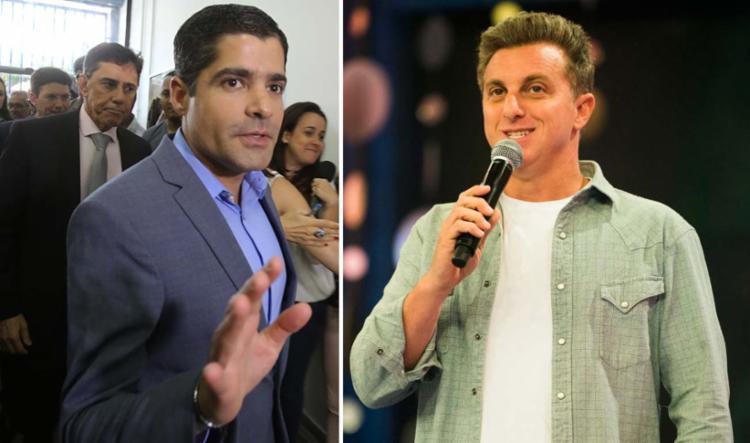 No encontro, estavam o prefeito ACM Neto e Luciano Huck - Foto: Xando Pereira | Ag A TARDE e Divulgação