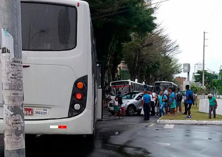 Acidente aconteceu na avenida Vasco da Gama - Foto: Cidadão Repórter | Via WhatsApp