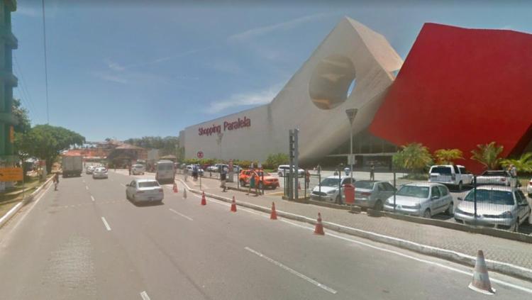 O crime aconteceu no estacionamento do local - Foto: Reprodução | Google Maps