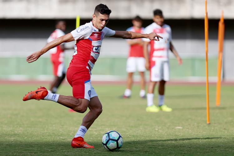 Juninho deve substituir Renê Jr. novamente - Foto: Felipe Oliveira l EC Bahia