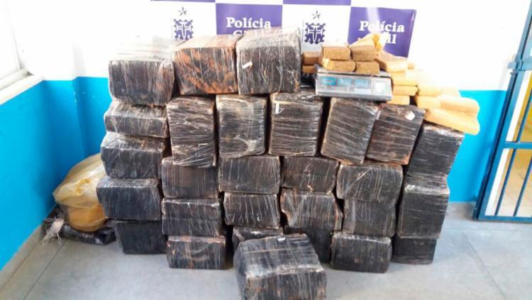 A droga avaliada em R$ 300 mil veio do Paraguai - Foto: Divulgação | SSP-BA