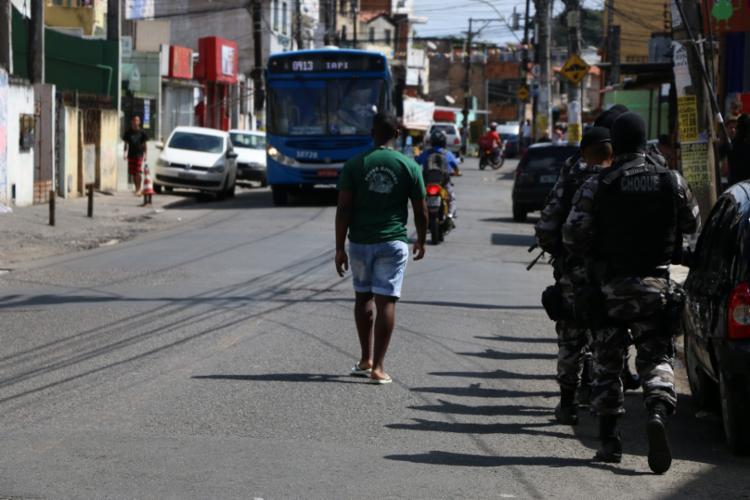 O policiamento no local e nos bairros vizinhos está reforçado desde quarta - Foto: Alberto Maraux | Divulgação | SSP-BA