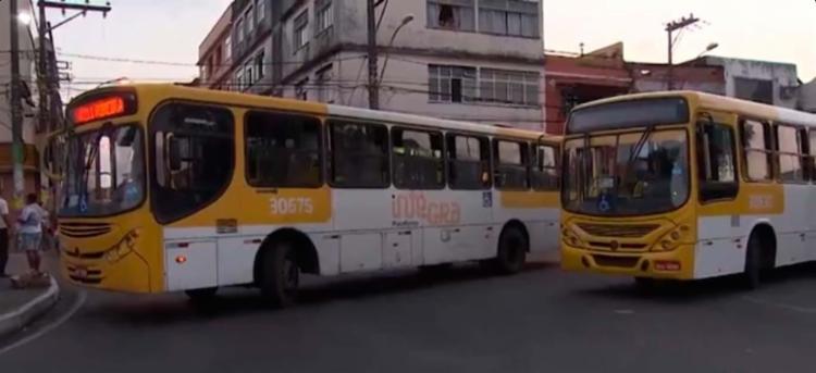 Os motoristas e cobradores param de circular por algumas horas - Foto: Reprodução | TV Bahia