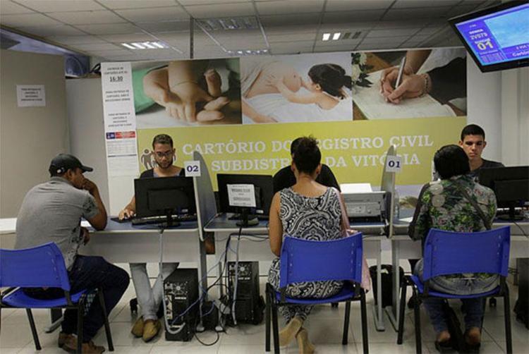 Cartórios vão emitir RG, CPF, CNH, CTPS e passaporte - Foto: Margarida Neide   Ag. A TARDE   28.09.2017