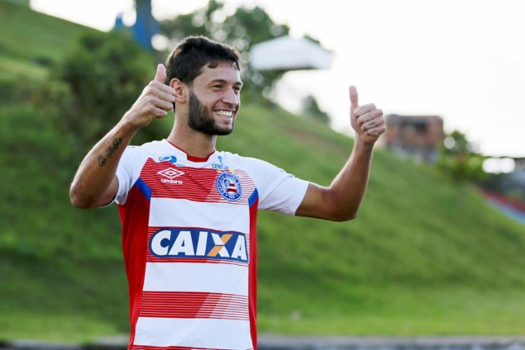 Juninho superou um longo período sem muitas chances para ganhar a titularidade - Foto: Felipe Oliveira | EC Bahia