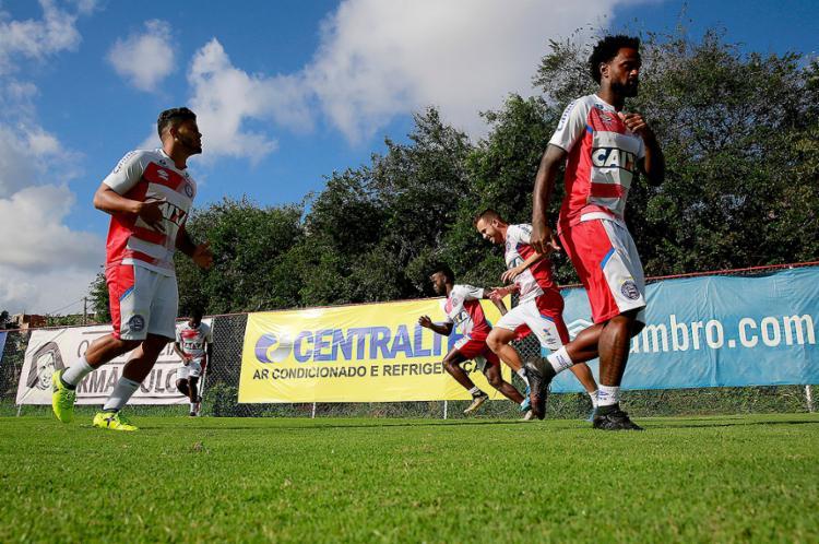 Após a folga, jogadores voltaram ao batente para o duelo da próxima segunda - Foto: Felipe Oliveira   EC Bahia