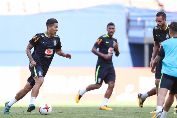 Firmino deve ser o titular do ataque contra a Colômbia - Foto: Lucas Figueiredo | CBF