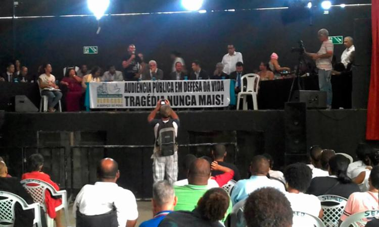 A audiência pública acontece em Mar Grande - Foto: Joá Souza   Ag. A TARDE