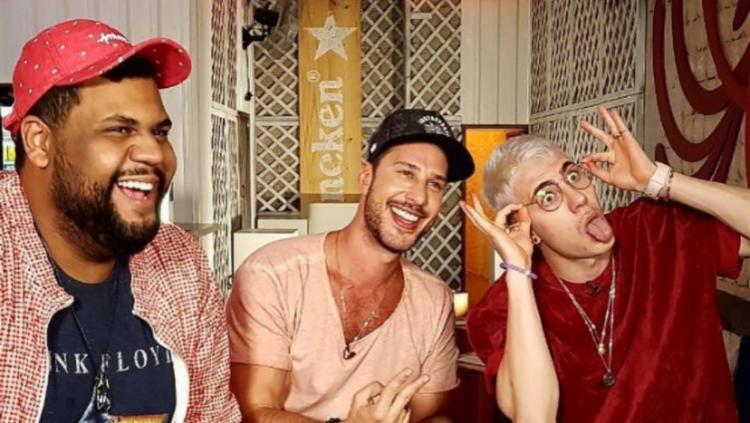 John Drops, Caio Fischer e Leo Picon - Foto: Reprodução Instagram