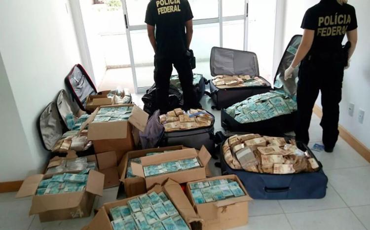 A Polícia Federal investiga agora a origem da dinheirama - Foto: Divulgação l PF