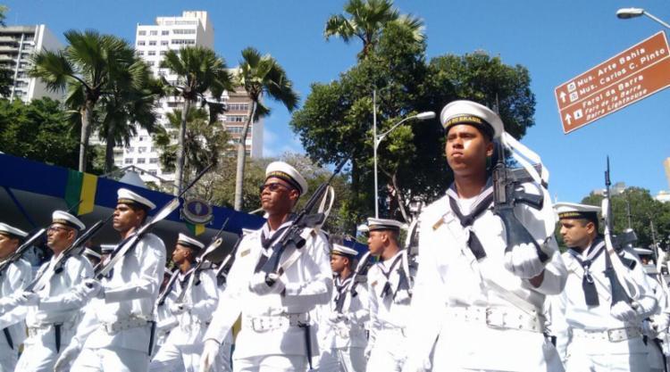 Desfile vai do Largo Campo Grande até a Praça Castro Alves - Foto: Raul Spinassé | Ag. A TARDE | 07.09.2017