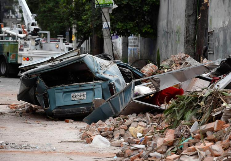 O tremor foi de 8,2 graus na escala richter - Foto: Alfredo Estrella | AFP