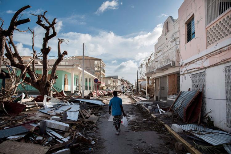 Passagem do Irma pela ilha francesa de Saint-Martin deixou 8 mortos - Foto: Martin Bureau | AFP
